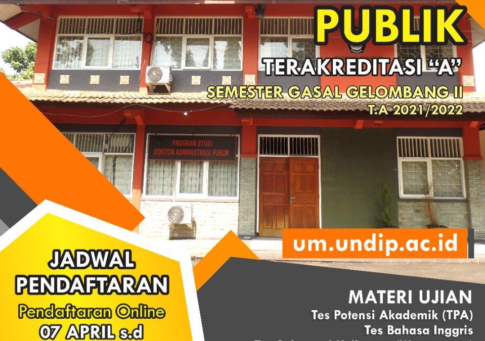 Pendaftaran Program Studi Doktor Administrasi Publik